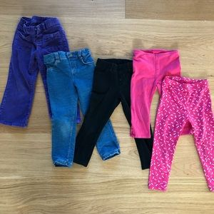 Other - SET OF 5 girls pants in 3T